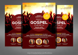 gospel fest church flyer template flyer templates on creative market