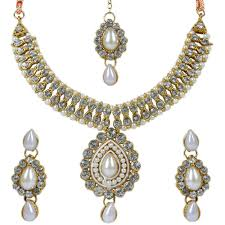 artificial diamond necklace set by luxor jewellery necklace sets home18