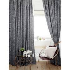 Black Cool Modern Contemporary Living Room Cheap Linen Curtains