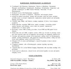 Radiologic Technologist Resume Templates Radiology Tech Resume Stunning Resume For Radiologic Technologist