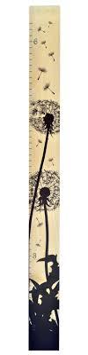 Dandelion Growth Chart Dandelion Silhouette Modern Wooden Ruler Growth By