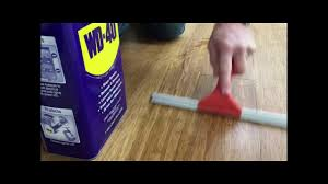 fix your squeaky floors with wd 40