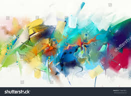 abstract colorful oil painting on canvas texture hand drawn brush stroke oil color paintings