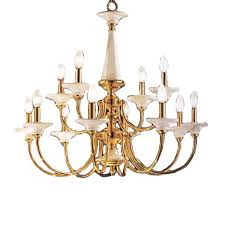 design classic lighting. Classic Lighting Spanish Ceramic 30-in 12-Light Polished Brass Williamsburg Tiered Chandelier Design R