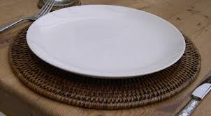 cool round placemats for stylish table decor wicker round placemats and wooden dining table with