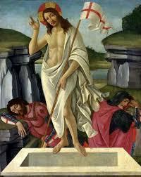 sandro botticelli or work of resurrection of christ 1490