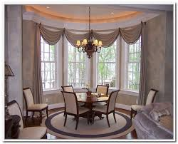 dining room curtains bay window
