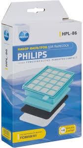 """Набор <b>фильтров</b> Neolux """"HPL-86"""" для пылесоса <b>Philips</b>, 4 шт"""
