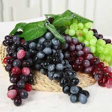 <b>NieNie</b> 2Pcs <b>Artificial Grapes</b> DIY Artificial Fruits Plastic <b>Fake Fruit</b> ...
