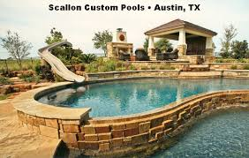 Backyard pool with slides Outdoor Scallonpools011044548743 Interfab Build Your Own Slide 1