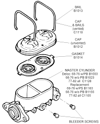 Master cylinder assembly diagram view chicago corvette supply