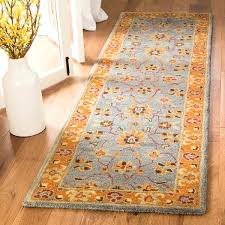 orange runner rug heritage traditional inspired hand tufted wool blue 2 kitchen