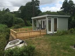 building a garden office. 3.0m X 4.0m Contemporary Garden Office With Cedral Cladding, 5 Pane Bi-Folds Building A