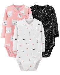 3 Pack Side Snap Bodysuits Carters Com