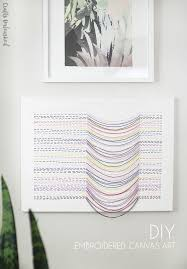 Diy Canvas Diy Canvas Wall Art With Embroidered Thread Design