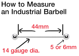 55 Punctual Barbell Piercing Size Chart