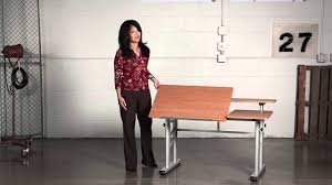 Safco Height Adjustable Split Level Drafting Table   YouTube