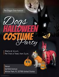 Costume Contest Flyer Template Dogs Halloween Costume Party Flyer Template Postermywall