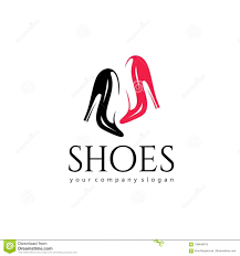 Shoes Logo Design Free Download Vector Logo Design For Shoes Shop Women Shoes Sign Stock