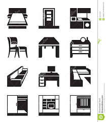 Various Types Furniture Stock Vector Image