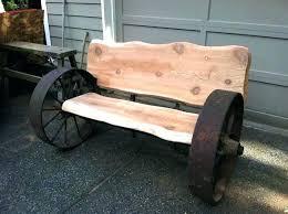 wagon wheel bench wagon wheel bench garden wagon wheels wagon wheel bench with wood slabs