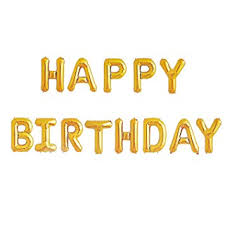 Happy Birthday Balloons Banner Amazon Com Happy Birthday Balloons Banner Gold Mylar Foil Letter
