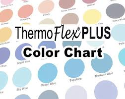 Color Chart Thermoflex Plus Htv