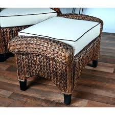 wicker pouf medium size of coffee table square round outdoor ottoman poufs sunbrella