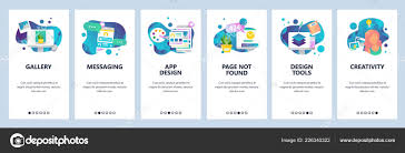 Online Menu Design Software Vector Web Site Onboarding Screens Template Design Creative