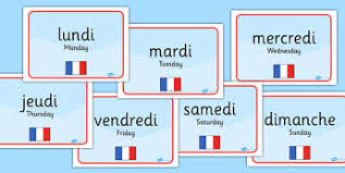 French Days Of The Week French Days Of The Week In Primary Resources