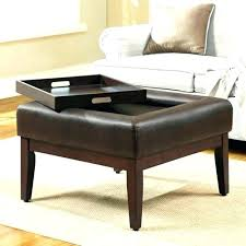 round ottoman coffee tables black leather remarkable mahogany wood table with material