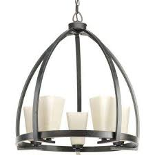 ridge collection 5 light espresso chandelier with square etched watermarked glass shade