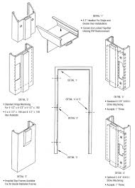 door jamb detail plan. Frame Details. Frp Door Frames Corrim Co Jamb Detail Plan