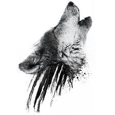 howling wolf drawing tattoo. Delighful Howling Howling Wolf Head Tattoo Design Throughout Drawing
