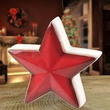 Deko Stern Aus Keramik 16x6cm Weihnachtsstern Adventsstern Fensterdeko Tischdeko