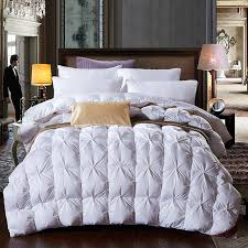 95% white goose feather /duck down comforter/duvet winter thick ... & 95% white goose feather /duck down comforter/duvet winter thick comforter  autumn quilt/blanket king queen twin size-in Comforters & Duvets from Home  ... Adamdwight.com