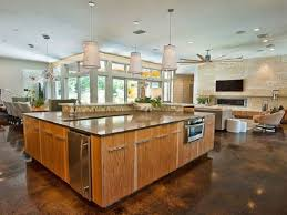 Outstanding Open Floor Plans With Large Kitchens 60 About Remodel Large Kitchen Island Floor Plans