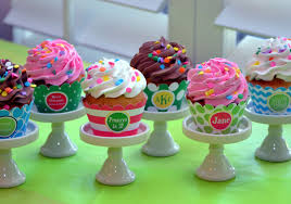 cupcake wallpaper for kitchen.  For Creative Cupcake Stand On Wallpaper For Kitchen R