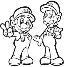 Luigi Coloring Pages Printable Luigi Coloring