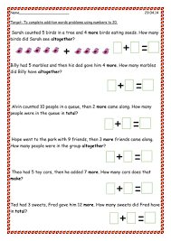 Addition Word Problems To 20 By Pandapop25 - Teaching Resources - Tes