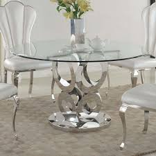 Chintaly Raegan Round Glass Topped Dining Table