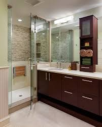philadelphia teak shower seat bathroom contemporary with frameless glass solid color hand towels wainscoting