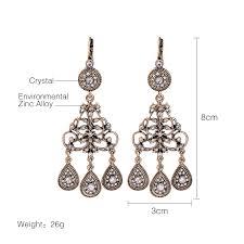 modern chandelier earrings for women hollowed crystal dangling fashion chandelier earrings vintage accessories ncybezo