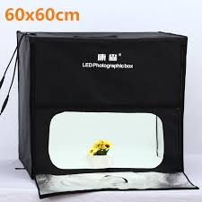 photo lighting studio shooting 60 60cm tent box kit led photo studio softbox shooting light