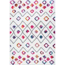 nuloom tatyana moroccan diamond trellis gy pink runner 2 ft 8 in x 8 ft rug