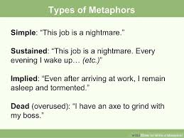 how to write a metaphor examples wikihow image titled metaphorslide03