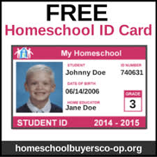 Make An Id Card Make Your Own Homeschool Id Cards Simply Oshun Home School