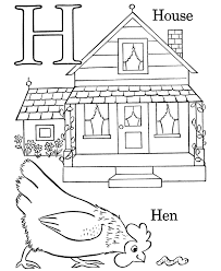 Small Picture Alphabet Coloring Pages Letter H Free printable farm ABC