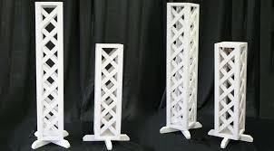 lattice wedding pillars large and small al iowa