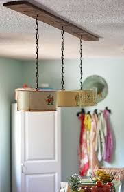 diy kitchen lighting. Create A Farmhouse Kitchen Look With DIY Light Fixtures Upcycled From Vintage Cake Tins. How Diy Lighting B